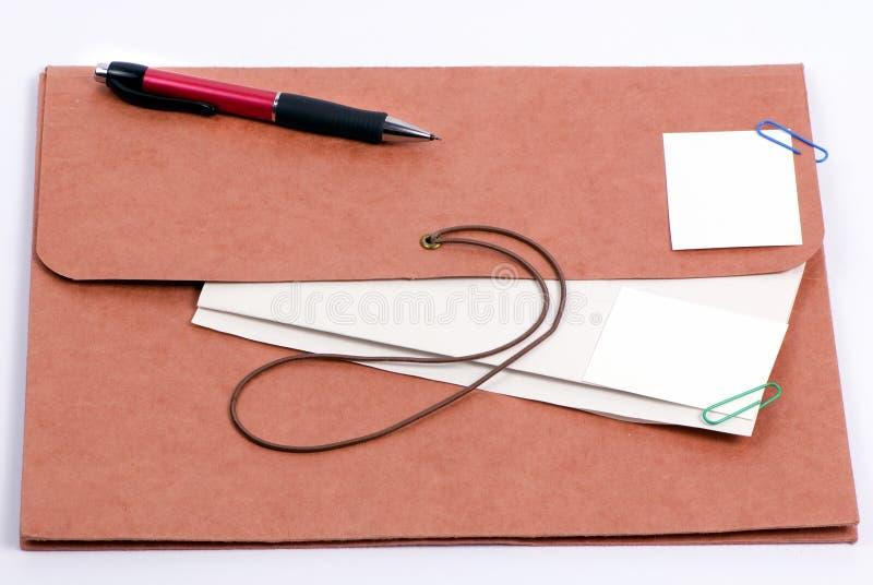 3棕色文件夹 免版税图库摄影