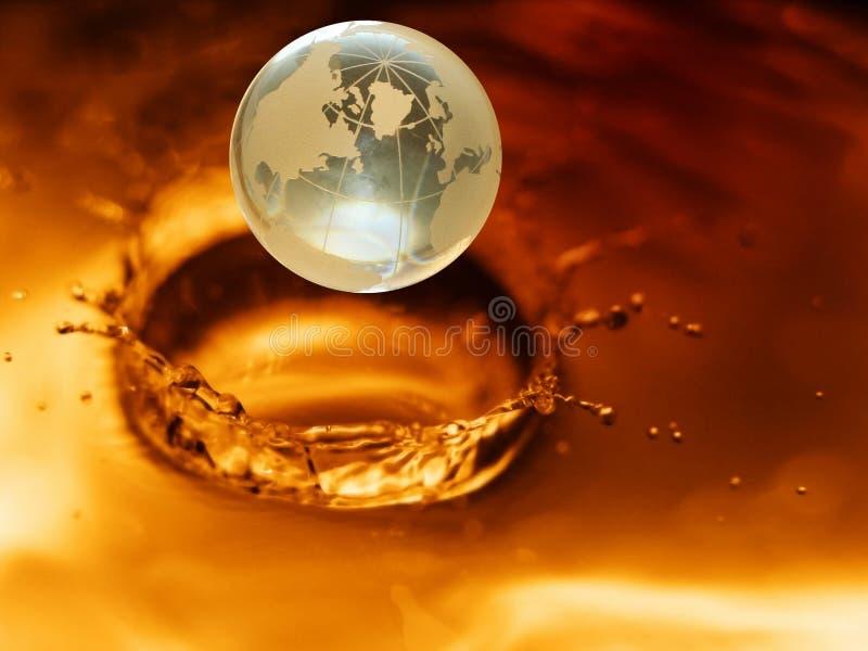 3水晶地球 免版税库存图片