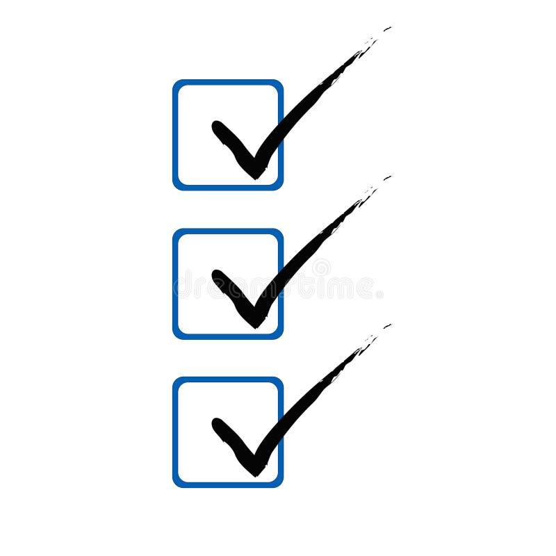 3滴答声符号(向量) 向量例证