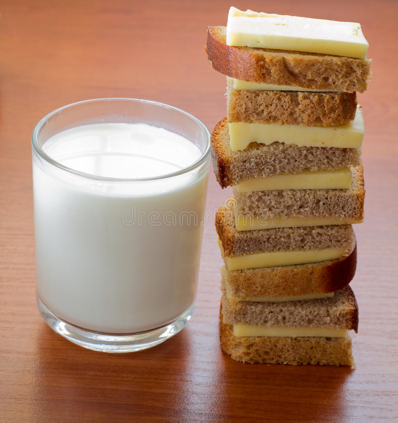 3牛奶店粮食产物 图库摄影