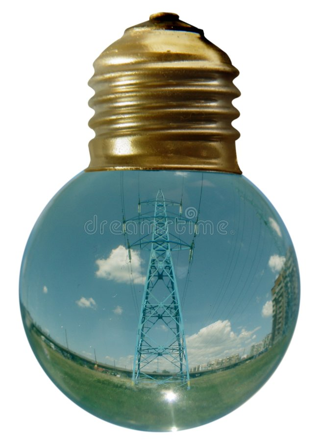 3电灯泡 库存照片