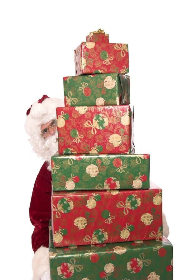 3礼品圣诞老人 库存图片