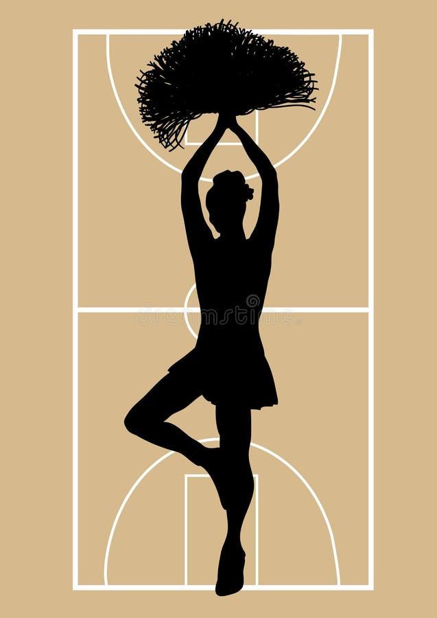3篮球啦啦队员 皇族释放例证