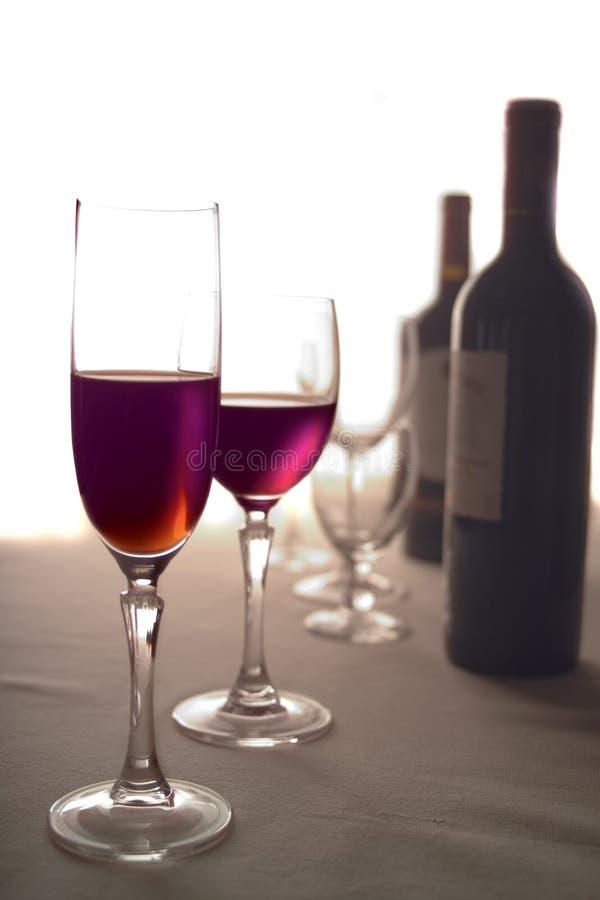 3红葡萄酒 库存照片