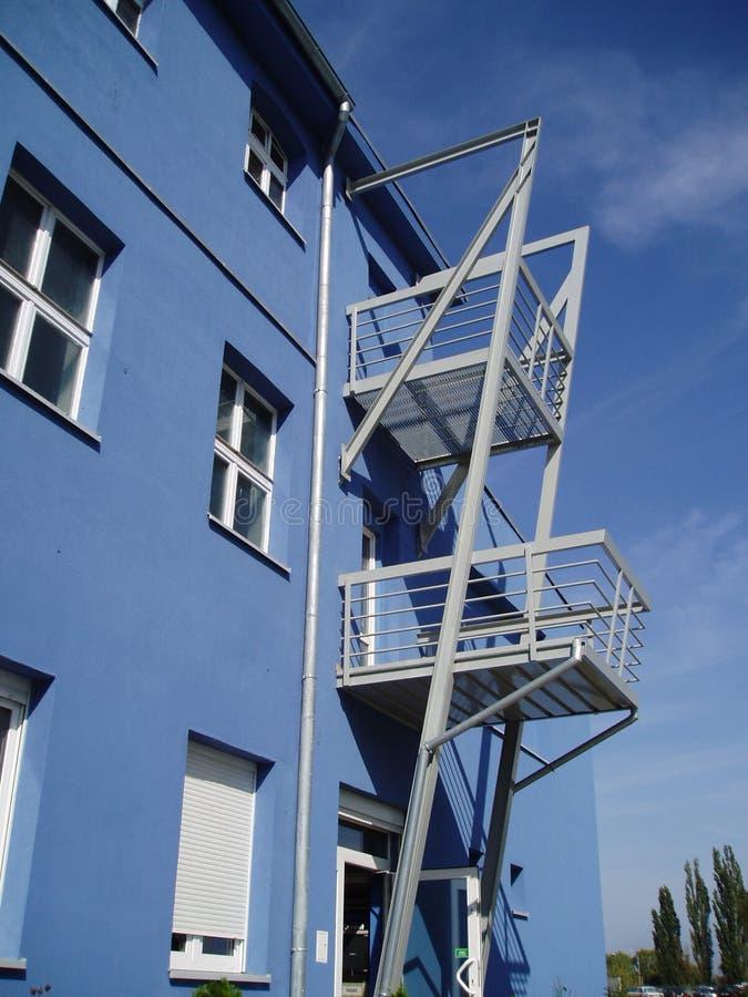 3蓝色大厦 免版税库存照片