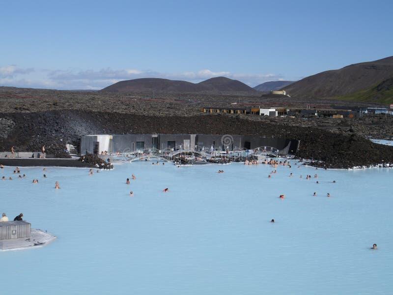 3蓝色盐水湖 库存图片