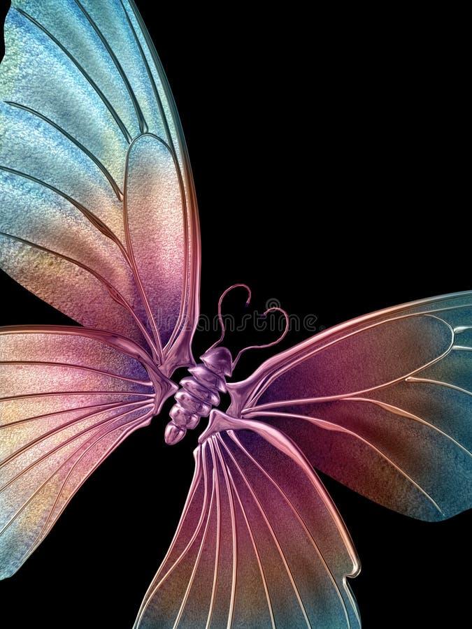 3蝴蝶 库存例证