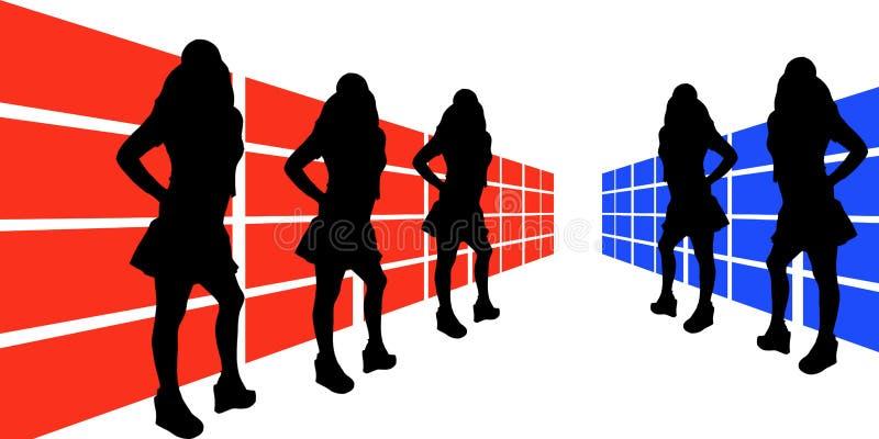 3说明的妇女 库存例证