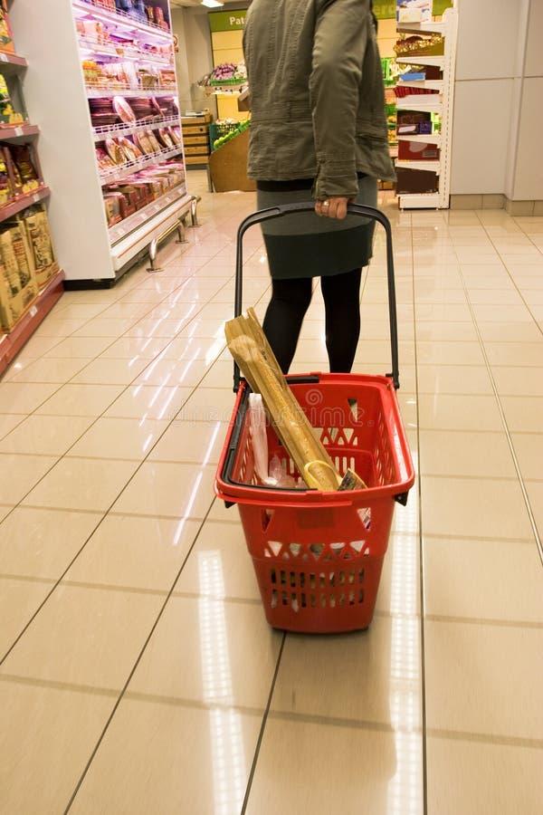 3购物的超级市场 免版税库存图片
