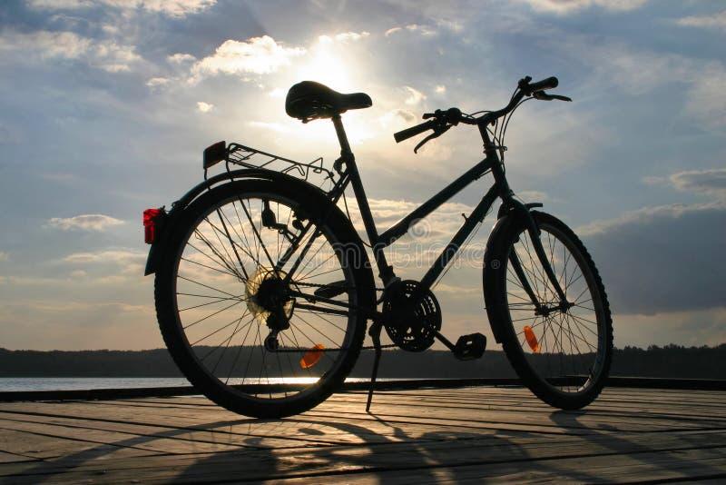 3辆自行车结尾行程 库存图片