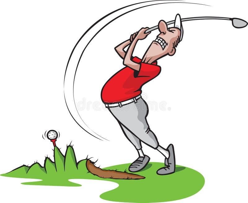 3高尔夫球愚蠢的人 向量例证