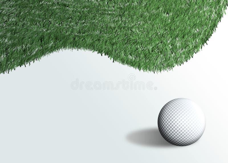 3高尔夫球 库存例证