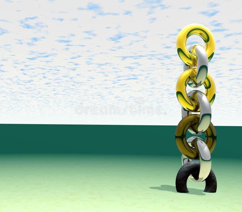 3 łańcuch abstraktów ilustracji