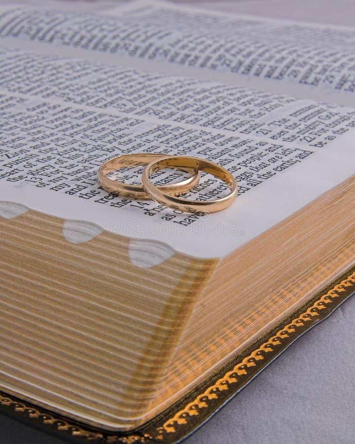 3 δαχτυλίδια Βίβλων στοκ εικόνες