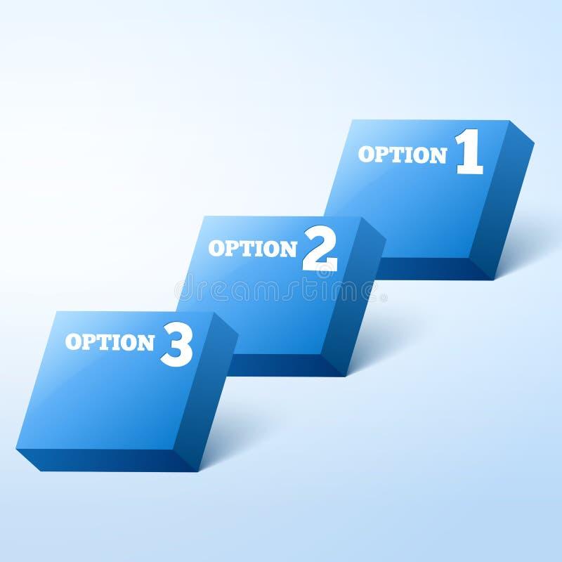 3-διαστατικός διανυσματική ανασκόπηση προόδου διανυσματική απεικόνιση