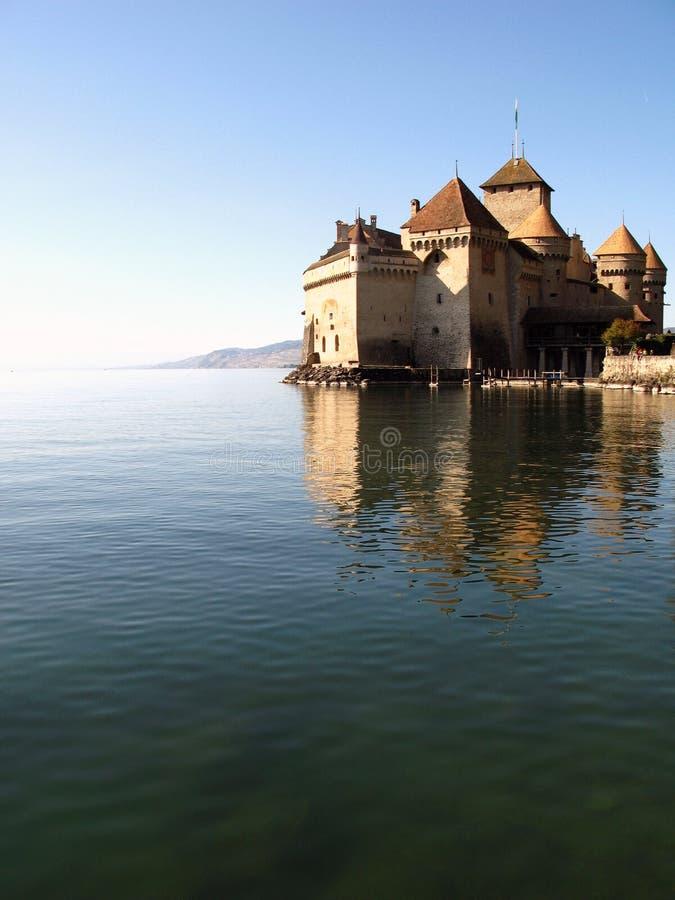 3 κάστρο CH chillon montreux στοκ εικόνες