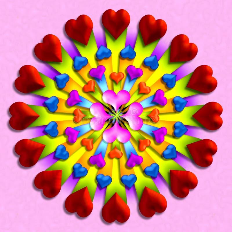 3 καρδιά διανυσματική απεικόνιση