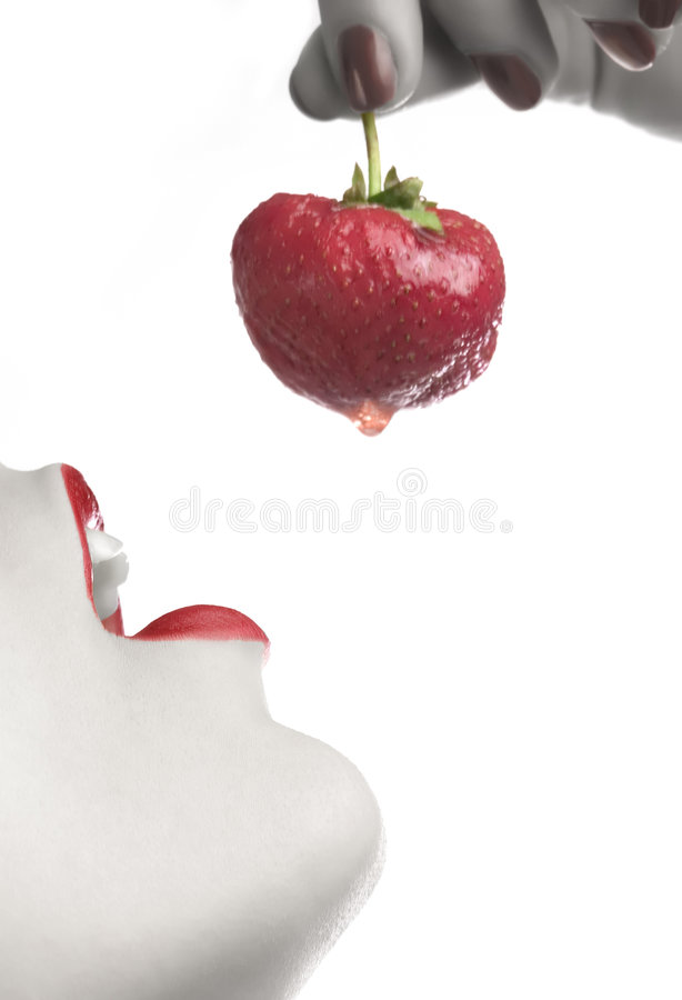 3 κατανάλωση της φράουλας στοκ φωτογραφία με δικαίωμα ελεύθερης χρήσης