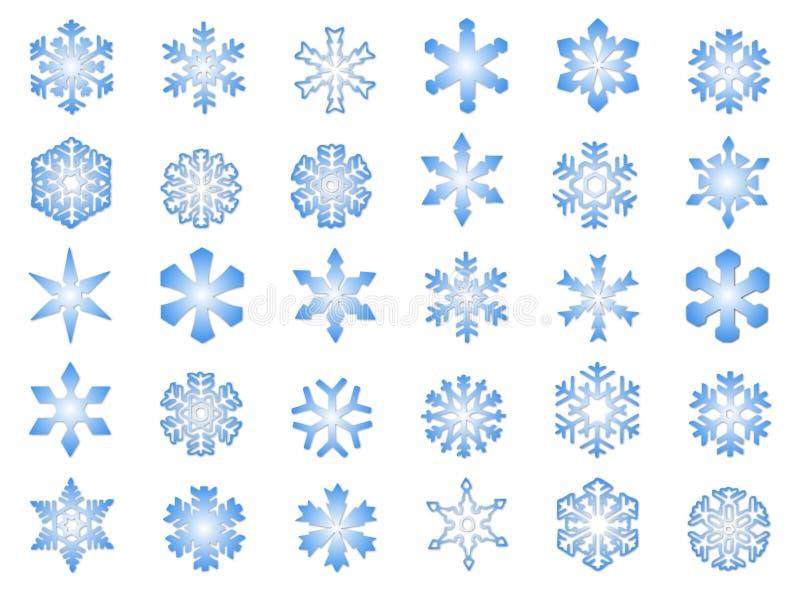 3 κλασικά snowflakes απεικόνιση αποθεμάτων