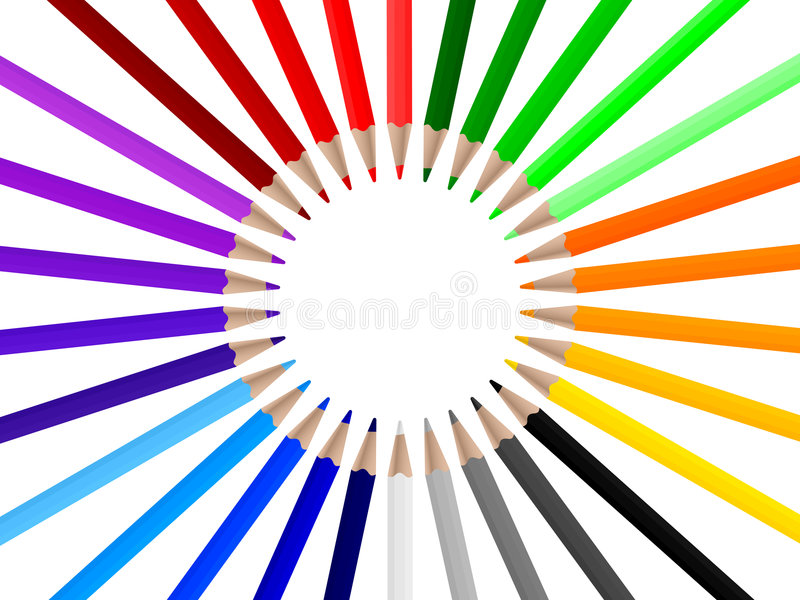 3 μολύβια χρώματος απεικόνιση αποθεμάτων