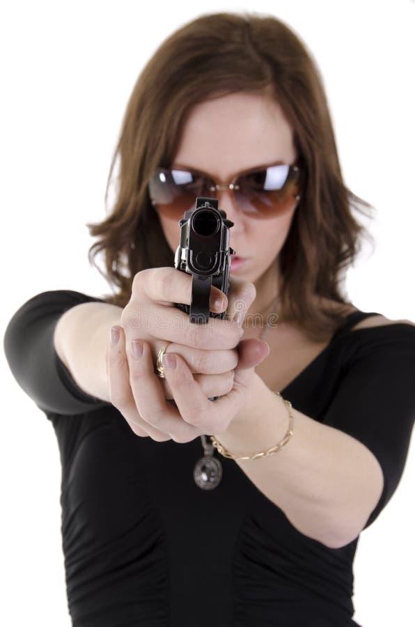 3 νεολαίες γυναικών πυροβόλων όπλων στοκ φωτογραφίες με δικαίωμα ελεύθερης χρήσης