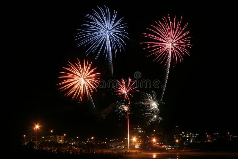 3 πυροτεχνήματα Στοκ φωτογραφίες με δικαίωμα ελεύθερης χρήσης