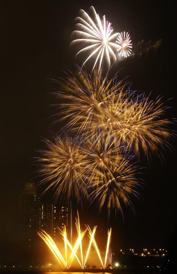 3 πυροτεχνήματα Στοκ Εικόνα