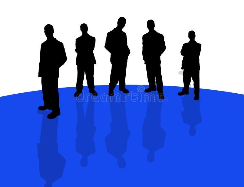 3 σκιές επιχειρηματιών απεικόνιση αποθεμάτων