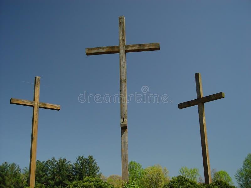 3 σταυροί στοκ εικόνες