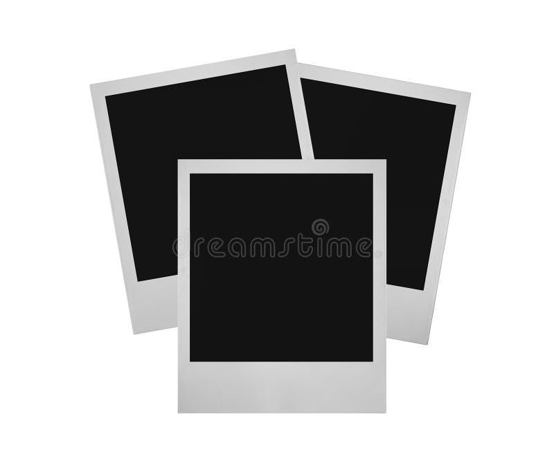 3 στοίβα polaroid στοκ φωτογραφίες
