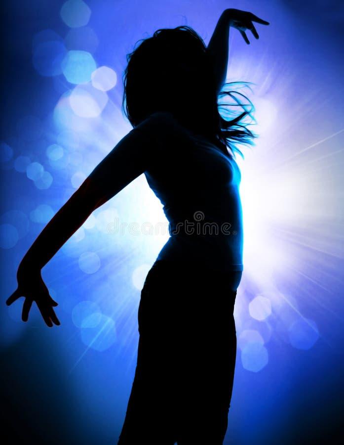 3 χορεύοντας σκιαγραφίε&sig στοκ εικόνα