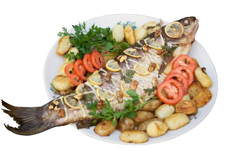 3 ψημένες στη σχάρα ψάρια σε&iota στοκ εικόνα με δικαίωμα ελεύθερης χρήσης