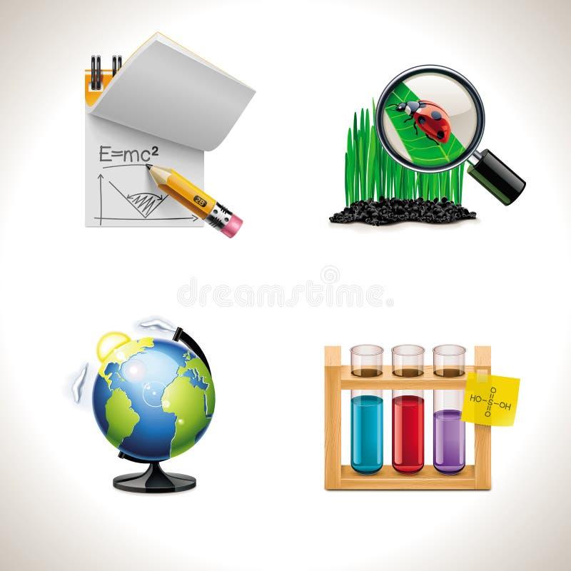 3 иконы разделяют вектор школы иллюстрация вектора