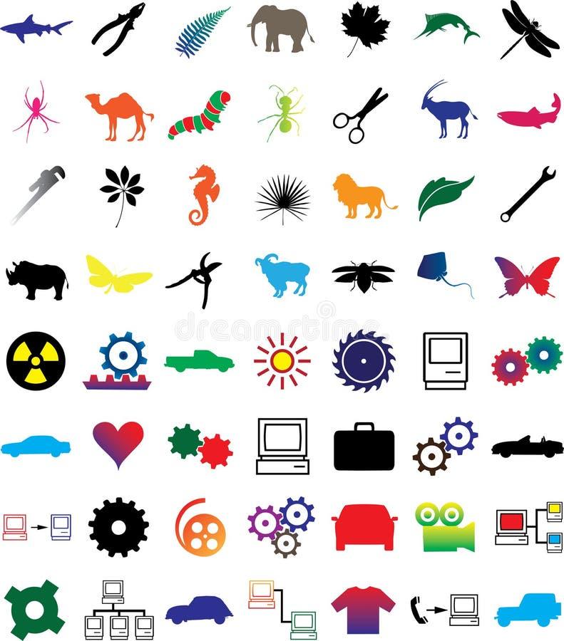 3 иконы установили сеть иллюстрация штока