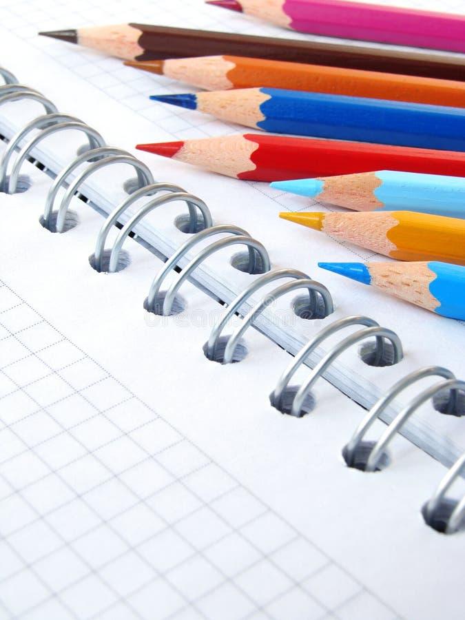 3 карандаша цвета стоковая фотография rf