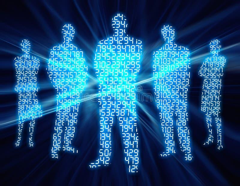 3 люд разряда двоичного числа иллюстрация вектора