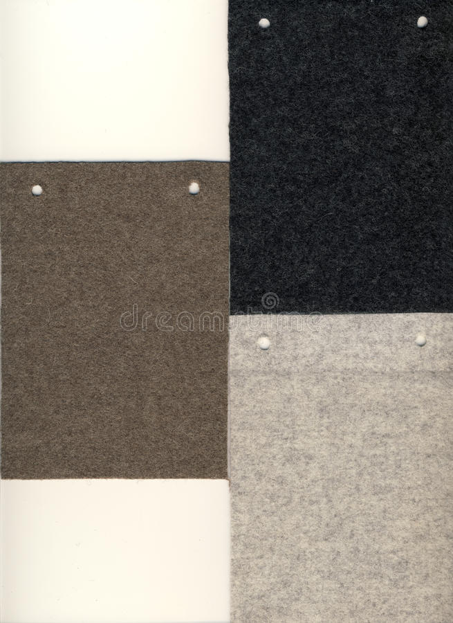 3 образца войлока предпосылки стоковое изображение