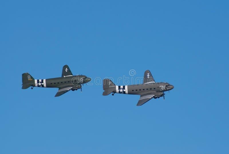3 плоскости полета dc douglas транспортируют 2 стоковое фото