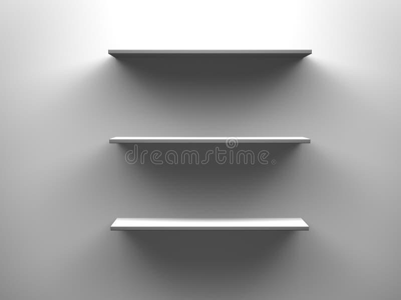 3 пустых полки иллюстрация штока