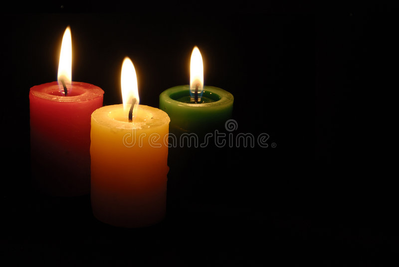3 свечки стоковые фотографии rf