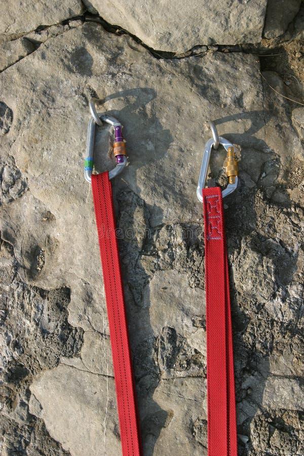 3 слинга karibiners стоковое фото rf