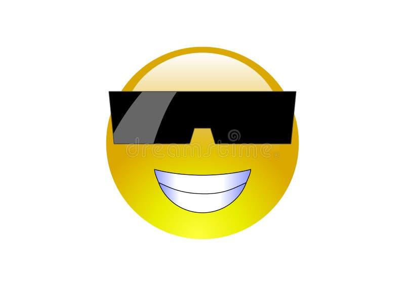 3 солнечного очк emoticons aqua стоковое фото