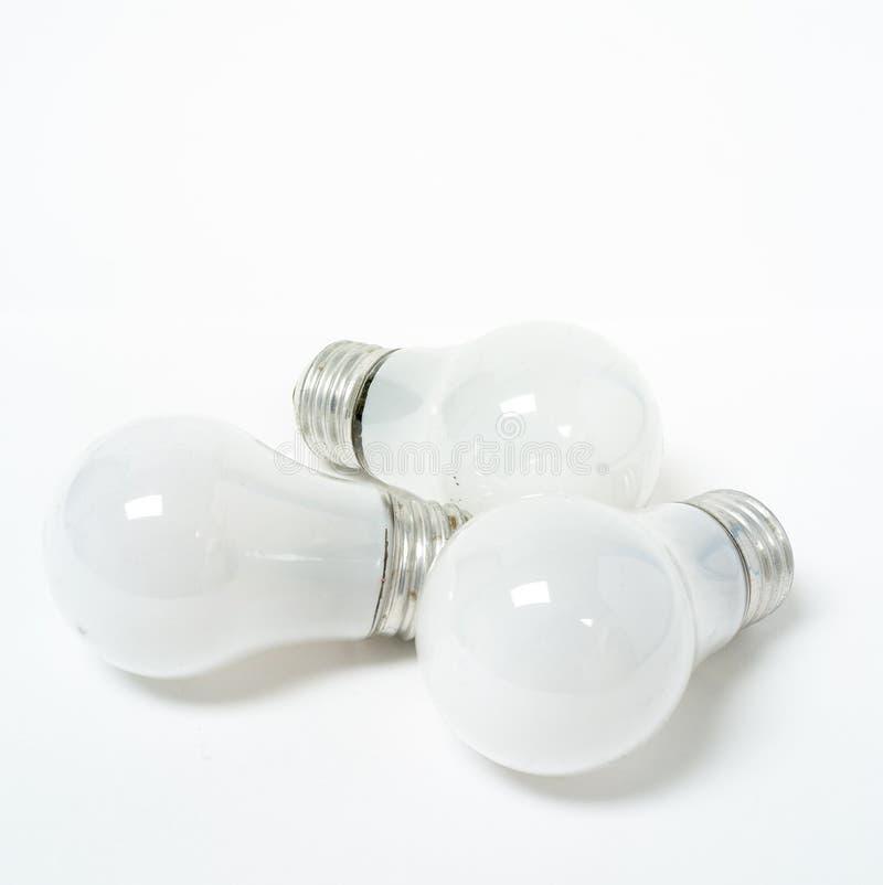 3 старых электрической лампочки вольфрама стоковые изображения rf