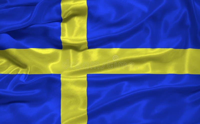 3 флаг Швеция иллюстрация вектора