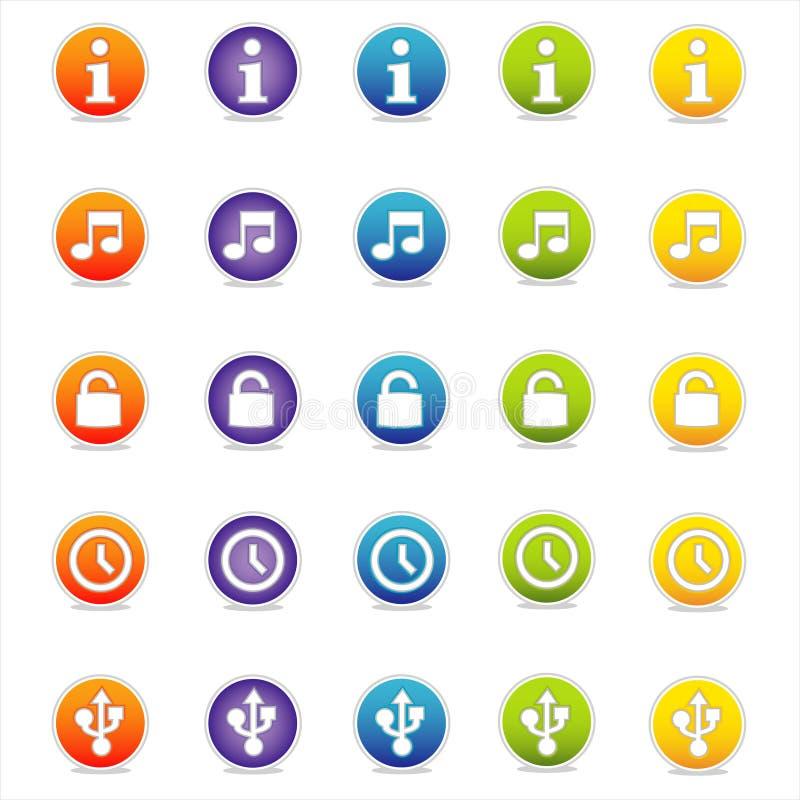 3 цветастых иконы vector сеть