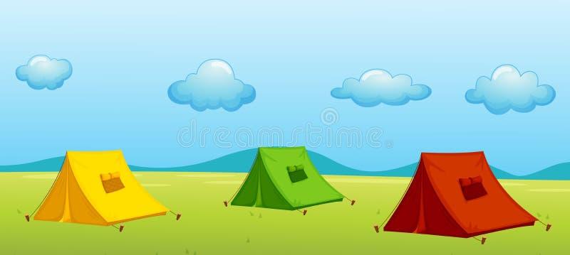 3 шатра иллюстрация вектора