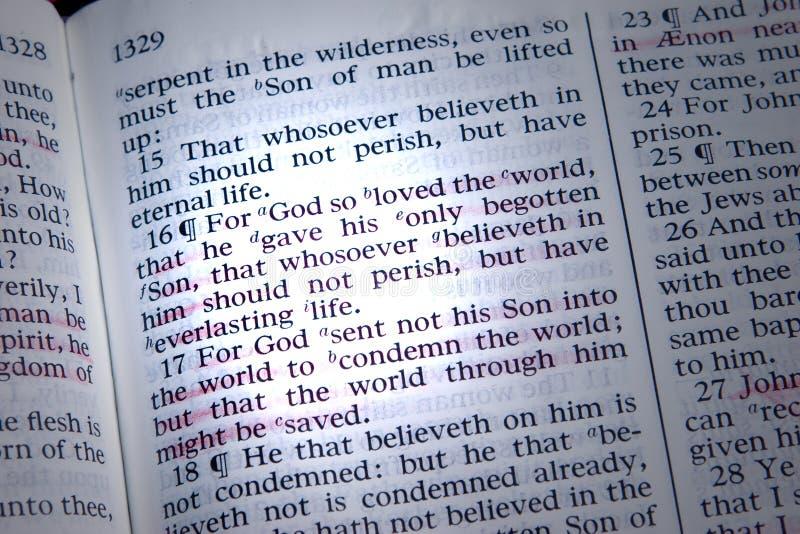 Download 3:16 de Juan foto de archivo. Imagen de testamento, scripture - 1294004
