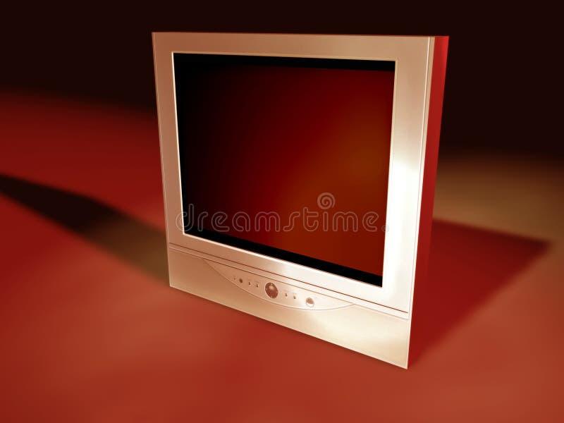 3个平面式屏幕电视 皇族释放例证