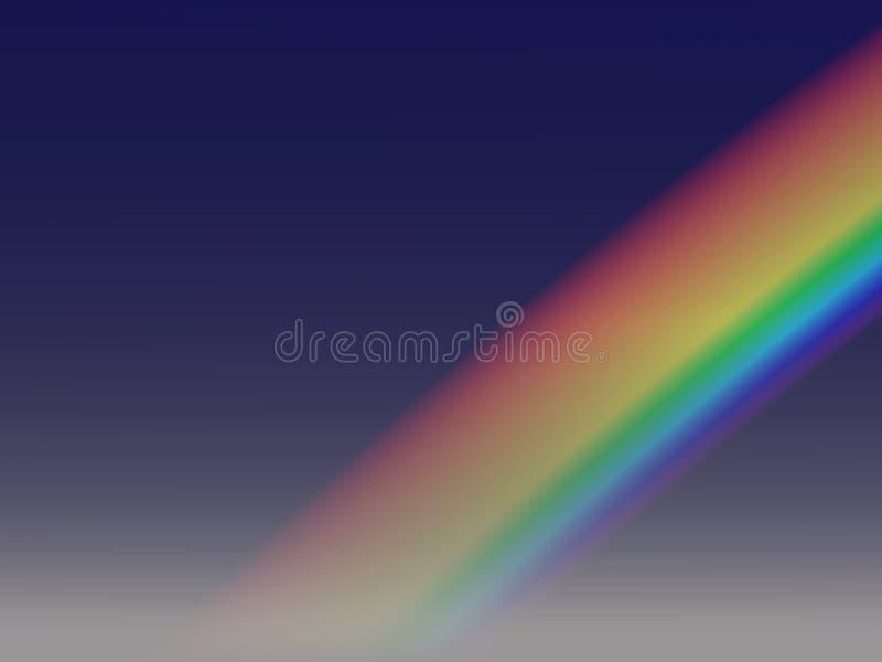 3个背景彩虹 向量例证