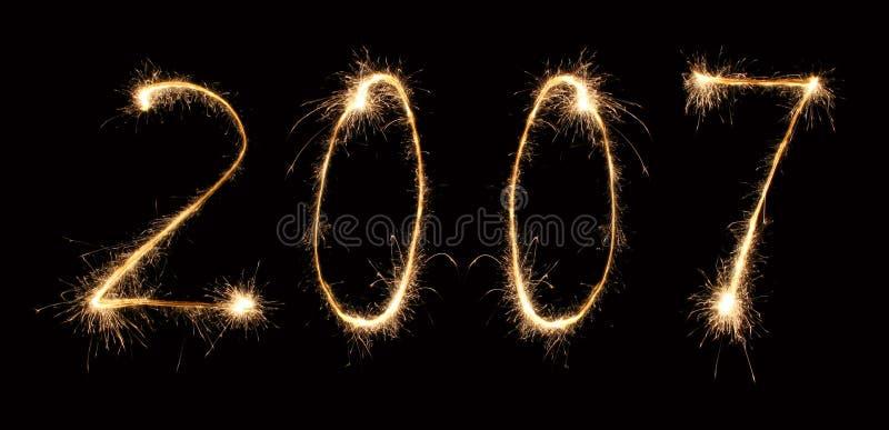 3 2007 sparkler fotografia royalty free